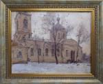 Последняя весна Петропавловской церкви.20-е годы в Пензе. 40х50
